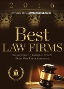 Winner of 2016 Doyles Guide best law firms